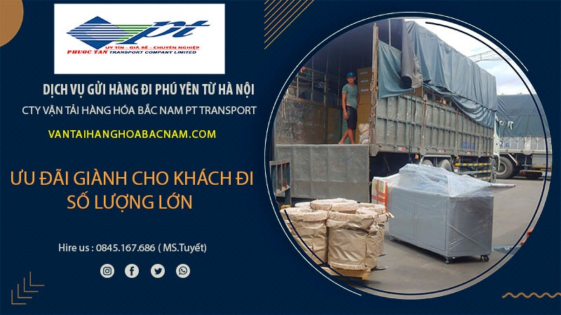 Các dịch vụ chính nhà xe gửi hàng đi Phú Yên từ Hà Nội: